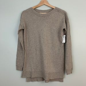 NWT Old Navy Tan Scoop Neck Pullover Sweater XS